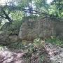 尾根を阻む大岩