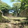 三の丸付近の出丸石垣