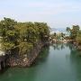 天守台から見た水門
