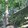 搦め手虎口の石垣