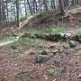 小城 主郭 高土塁下の石積