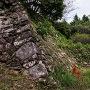 櫓の石垣跡。