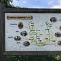 明智城址公園散策路マップ