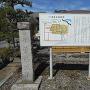曽根城址碑と案内板