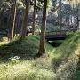 竪堀と木橋
