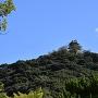 山麓から見える模擬天守