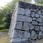 西不明門の未修復の石垣