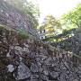 北西隅櫓と石垣