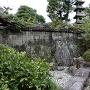庭園の中にあった石垣