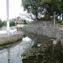水堀跡と本丸土塁