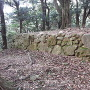 益富城 本丸 枡形虎口 櫓跡石垣