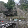 表門から見た石垣