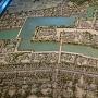 福岡城むかし探訪館にある福岡城の模型