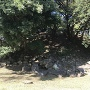 天守台の石垣 (西曲輪から)