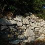 伝本丸北面の西側に残る石垣