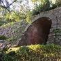 戌亥櫓石垣に掘られた「レンガ造りのトンネル」