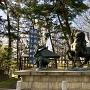 川中島古戦場にある武田信玄vs上杉謙信の銅像