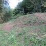 根小屋虎口の土塁