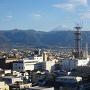 天守台から富士山を望む