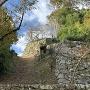 登り石垣①(見上げる)