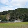 玉露の里より朝比奈城を望む