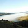 木曽川にかかる雲海