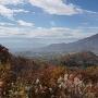 砥石城の稜線を望む