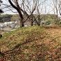 竹迫城 主郭 土塁と横堀