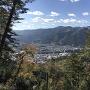 支城の桝形山城からの眺望