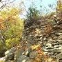 主郭北側の石積み