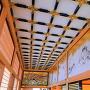 本丸御殿 廊下、上部の装飾を広角で