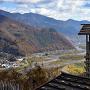 本郭からの眺望 (姫城と千曲川)
