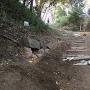 発掘調査による虎口石垣