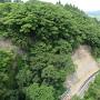 岩谷堂城(東側断崖)