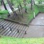長坂門跡と虎口を上から見る
