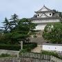 新幹線ホームから見た伏見櫓
