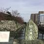 石垣と同じく緑色片岩を用いた石碑