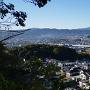登山道から遠望