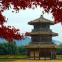 紅葉を被る八角形鼓楼