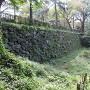 二の丸と本丸間 土橋 北側の石垣