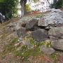 主郭西側の石垣跡
