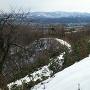 本丸跡の東屋からの眺望(2018冬)