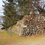 石垣が広範囲に