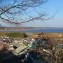 主郭からの印旛沼眺望