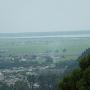 五城目城天守閣から見た八郎潟の遠景