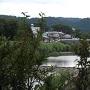 五城目町馬城橋からの五城目城の遠景