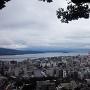 上山城から見る錦江湾と鹿児島市街地