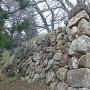 本丸南西角の石垣