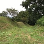 本丸北側の一の堀の様子