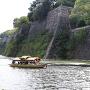 石垣と屋形船